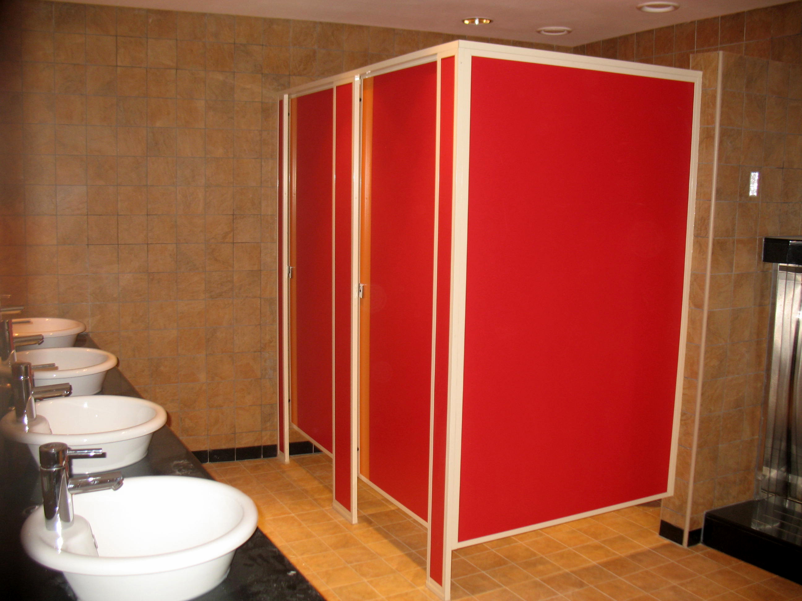 Projects gallery cps limited for Bathroom partitions home depot